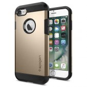Spigen Apple iPhone 7 Kılıf Tough Armor Champagne Gold - 042CS204-2