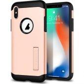 Spigen Apple iPhone X Kılıf Slim Armor Blush Gold - 057CS22140-2