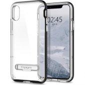 Spigen Apple İphone X Kılıf Crystal Hybrid Black 057cs22147