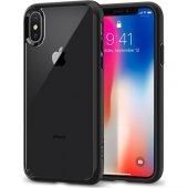 Spigen Apple iPhone X Kılıf Ultra Hybrid Black - 057CS22129