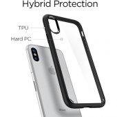 Spigen Apple iPhone X Kılıf Ultra Hybrid Black - 057CS22129-5