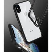 Spigen Apple iPhone X Kılıf Ultra Hybrid Black - 057CS22129-6
