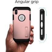 Spigen Apple iPhone X Kılıf Tough Armor Blush Gold - 057CS22162-4