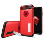 Spigen Apple iPhone 8 - iPhone 7 Kılıf Slim Armor Crimson Red - 0