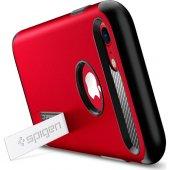 Spigen Apple iPhone 8 - iPhone 7 Kılıf Slim Armor Crimson Red - 0-2