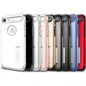 Spigen Apple iPhone 8 - iPhone 7 Kılıf Slim Armor Crimson Red - 0-3