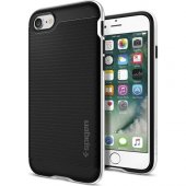 Spigen Apple İphone 7 Kılıf Neo Hybrid Satin Silver 042cs20520