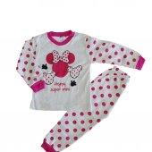 Kız Bebek Pembe Puantiyeli 1 3 Yaş Pijama Takım