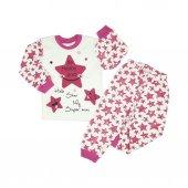 Kız Bebek Happy Yazılı Pijama Takımı 1 3 Yaş Pembe