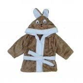 Erkek Bebek Şapkası Tavşanlı Bornoz
