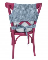 Sevi Bebe Kumaş Mama Sandalyesi Kot Desen