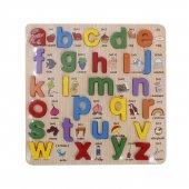 Emx İngilizce Alfabe Kabartmalı Ahşap Puzzle