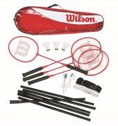 Wilson Badminton Seti Tour Stl Poles 4 Pc Kıt 3...