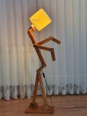 Woodlight Adam (Akıllı) Lambader Kahverengi