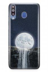 Samsung Galaxy M30 Kılıf Silikon Arka Kapak Koruyucu Ay Şelale De