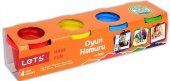 Lets Oyun Hamuru 4 Renk Normal Renkler L8240
