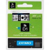 Dymo D1 40910 Yedek Şerit 9mm x 7mm Şeffaf-Siyah