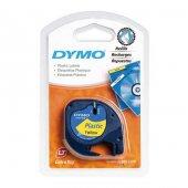 Dymo LetraTag 59423 Sarı Plastik Şerit, 12mm x 4m
