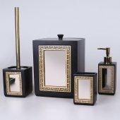Selim Veroni 4lü Banyo Seti Siyah Altın