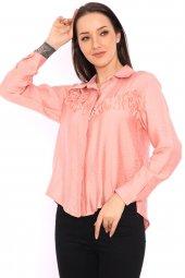 Aerobin Kumaş Püskül Detaylı Kadın Gömlek -5