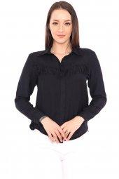 Aerobin Kumaş Püskül Detaylı Kadın Gömlek -7