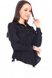 Aerobin Kumaş Püskül Detaylı Kadın Gömlek -8