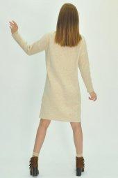 Kadın Uzun Kollu Mini Triko Elbise-4