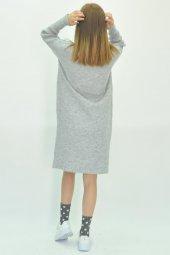 Kadın Uzun Kollu Mini Triko Elbise-8