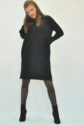 Kadın Uzun Kollu Mini Triko Elbise-9