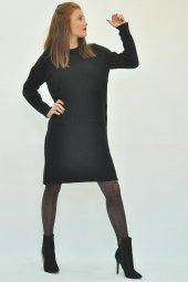 Kadın Uzun Kollu Mini Triko Elbise-10