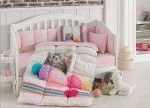 özdilek Smoothie Pembe Kedili Bebek Uyku Seti