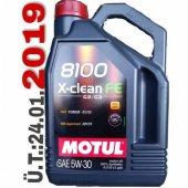 Motul 5w30 Motor Yağı 8100 X Clean Fe 5lt%100 Sentetik Partiküllü