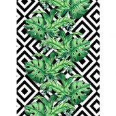 Halımax Fame 102 Tropikal PVC Kaymaz Taban(Ebat Seçenekleri İle)-2