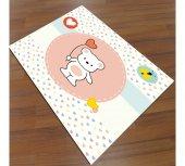 Cino Antialerjik Cn 042 Çocuk Halısı Pink Bear...