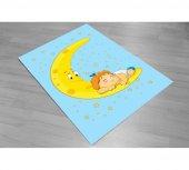 Cino Antialerjik Cn 015 Çocuk Halısı Moon&baby Mavi Sarı