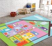 Cino Antialerjik Çocuk Halısı Evcilik Oyun Halısı Multi