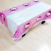Hello Kitty Pembe Puantiyeli Masa Örtüsü