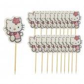 Hello Kitty Cupcake Muffin Kürdanı 20 Adet-2