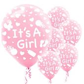 ıts A Girl Baskılı 6lı Pembe Balon