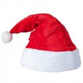 Kadife Noel Baba Kırmızı Yılbaşı Şapkası