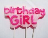Birthday Girl Mavi Simli Doğum Günü Mumu