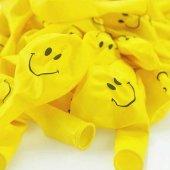 Smile Baskılı Sarı 6 Lı Balon