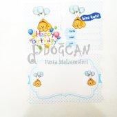 Happy Birthday Mavi 10 Lu Davetiye