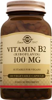 Solgar Vitamin B2 (Riboflavin) 100 Mg. 100 Kapsül Skt 05 2022