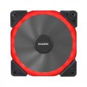 Dark Solid Altıgen Tasarımlı 12cm Kırmızı Ledli Kasa Fanı (Dkccfb125r)