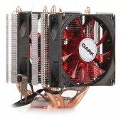 Dark Freezer X94rd, 2x92mm 4pin Pwm Kırmızı Led Fanlı, 4xısı Borusu, Direkt Kontak Amd Ryzen Am4 Ve Intel Uyumlu İşlemci Soğutucu (Dkccx94rd)
