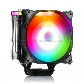 Dark Freezer X126, 12cm Adreslenebilir Rgb Ledli, Intel & Amd Uyumlu, 4pin Pwm Fanlı, 4x Isı Borusu, Direkt Kontak İşlemci Soğutucu (Dkccx126)