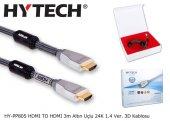 Kablo Hdmı Hytech Hy Pp805 Hdmı To Hdmı 3m Altın Uçlu 24k 1.4 Ver. 3d Kablosu