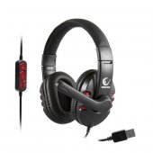 Kulaklık Snopy Rampage Sn Ru7 Usb Oyuncu Siyah Mikrofonlu Kulaklık