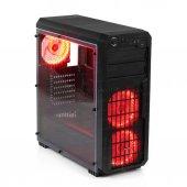 Dark Sentinel 1xusb 3.0, 2xusb 2.0, 3x12cm Fanlı, Akrilik Yan Panel Mid Tower Siyah Oyuncu Kasası (Dkchsentınel)